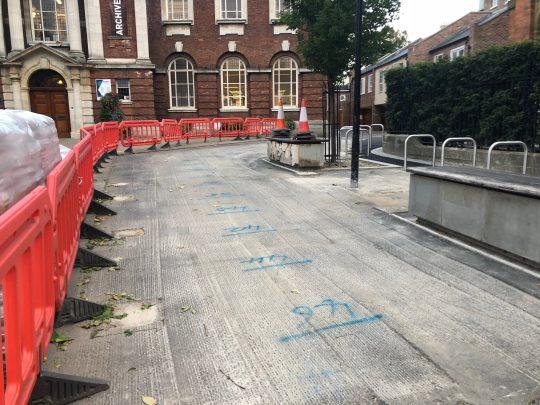 Resin Bound Gravel Before York Library