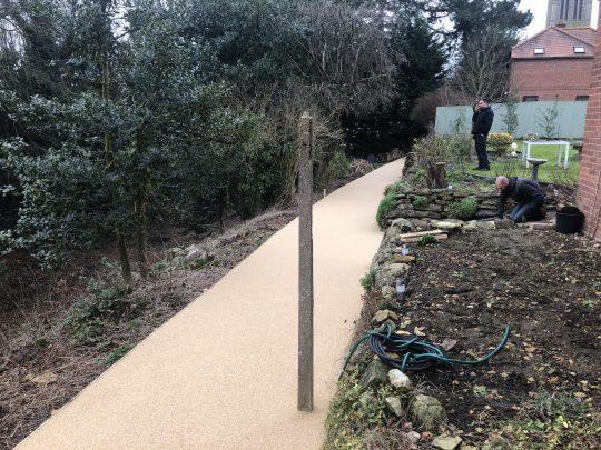 Resin Bond Gravel Pathway